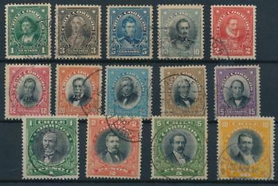 [38100] Chile 1911 Good lot of Very Fine used stamps
