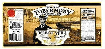 Commemorative Beer Label: Isle of Mull Brewing Co, for The Terror of Tobermory