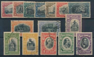 [38101] Chile 1910 Good set of Very Fine used stamps