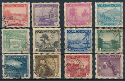 [38103] Chile 1936 Good set of Very Fine used stamps