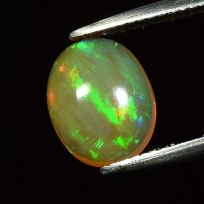 Good Flash 2.68ct Oval Cabochon Natural Play-of-Color Crystal Welo Opal Ethiopia