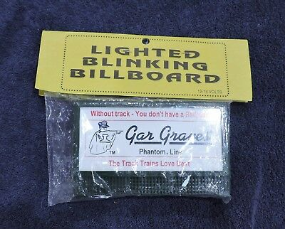 Nip Lighted Blinking Bill Board - Gar Graves Phantom Line Train Tracks