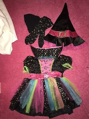 Halloween Costume 3-6 Months Witch Dress Hat Tights