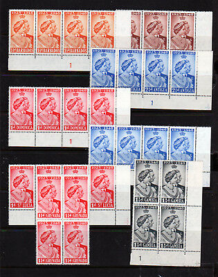 Royal Silver Wedding 1948 Omnibus X 7 Marginal Strips/blocks.  Um
