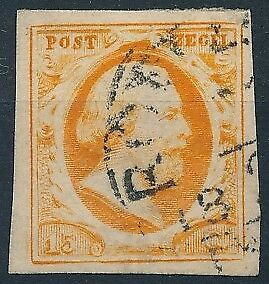 [3835] Netherlands 1852 good classic stamp very fine used value $190