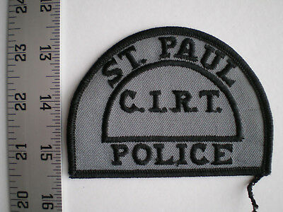 MN Minnesota capital city St Paul police CIRT SWAT vintage tactical patch