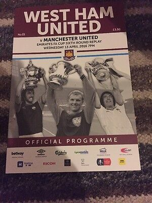 West Ham V Manchester United 13th April 2016 FA Cup