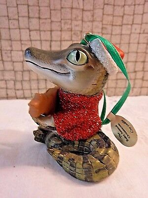 Danbury Mint CROCODILE Baby Animals Christmas Ornament with Tag