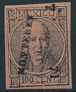 [38427] Mexico 1868/72 Good classical stamp Very Fine MH signed