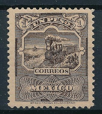 [38473] Mexico 1895/98 Train Good stamp Very Fine MH signed