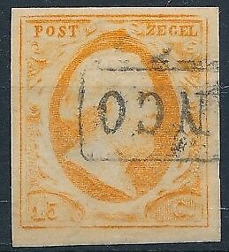 [3856] Netherlands 1852 good classic stamp very fine used value $190