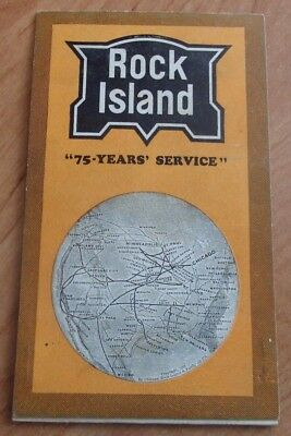 1920's Pullman Ticket Sleeve Cover For The Rock Island Railroad