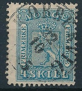 [4000] Norway 1863 good classic stamp very fine used with nice cancel