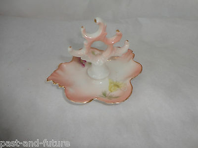 "Brunswick Germany Crown Over F Mark Ring Tree Holder, 2 1/4"" Tall By 3 Inches"