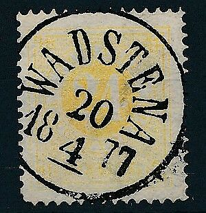 [4073] Sweden 1872-85 good classic stamp very fine used with TOP cancel