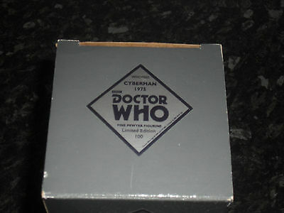 Robert Harrop : Doctor Who Pewter Figurine - Cyberman 1975 (Bnib)