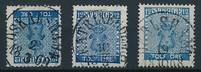[4114] Sweden 1858-70 good classic stamp very fine used with nice cancel (3)