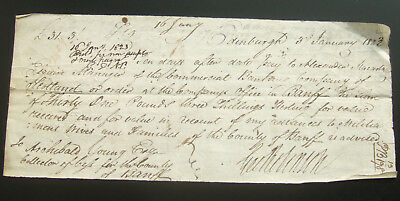 Antique Bill of Exchange 1823 for £31.3/- Edinburgh, Archibald Young, Scotland