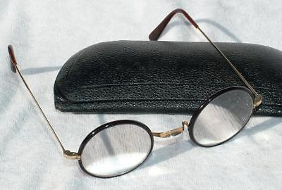Antique Cased Close Magnification Faux Tortoiseshell Glasses Spectacles Algha 20
