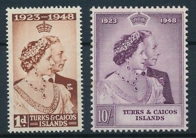 [54060] Turks and Caicos 1948 good set MNH Very Fine stamps