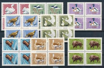 [G11104] Romania 1968 fauna good set very fine MNH stamps in blocs of 4