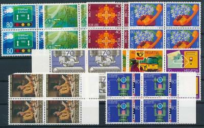 [G11139] Switzerland good lot very fine MNH stamps. All in blocs of 4