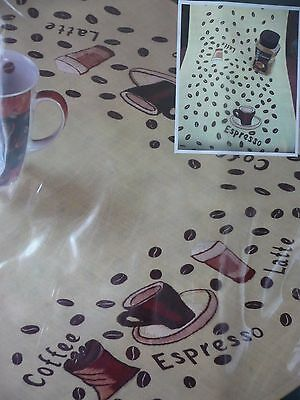 Embroidery Kit Table cloth/Runner Coffee Design 40cm x 160cm New