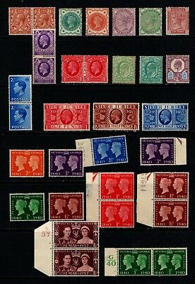 Great  Britain  Large  Unmounted/m/mint  Collection  7 Scans..   Gbm
