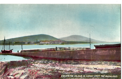 "Postcard of Valentia Island Co Kerry ""As seen from the mainland"""