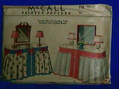 1940s Pattern-McCall for Skirt of Vanity Dressing Table-unused,excellent-one siz