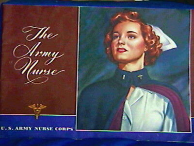 1944 'The Army Nurse'  history Illustrated 32 pg Booklet-so many war pictures