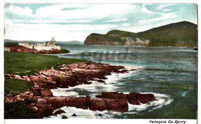 Postcard of Valentia Island Co Kerry with lighthouse