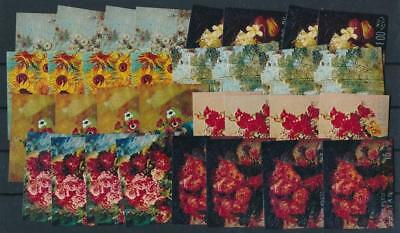 [G44553] Bhutan Flowers 4x good set Very Fine MNH stamps