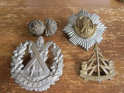 WWI/WWII? Assorted British Badge Lot (Lot of 4)