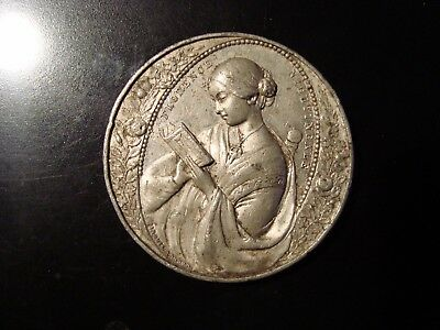 Florence Nightingale White Metal Medallion By John Pinches Crimea Circa 1856