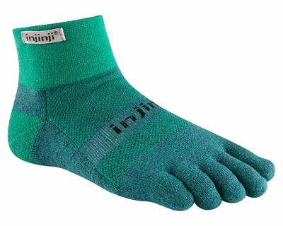 Injinji Trail Mid-Weight Mini-Crew COOLMAX® Technology - Size Large Emerald