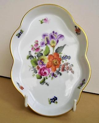 Herend BOUQUET DE HEREND BHR 7705 Hand Painted Floral Pin Tray/Trinket Dish