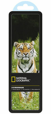 National Geographic 3D Bookmark- Siberian Tiger - Brand New In Packet