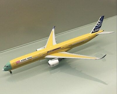 JC Wings 1/400 Airbus A350-1000 Bare Metal House Colour F-WMIL die cast model