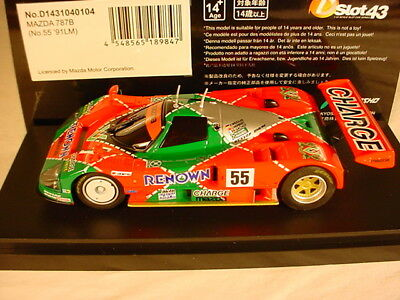 DSlot43 143 Mazda 787B #55 Renown Le Mans 1991 D1431040104 MB 1:43 scale Kyosho