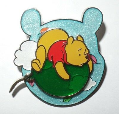 Disney Hong Kong HKDL Winnie the Pooh Floating on a Balloon Swivel Pin