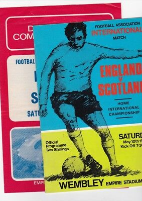 England v Scotland 1969  Programme and Songsheet