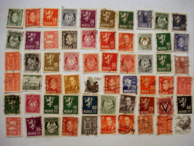 239 Norway Stamps Off Paper