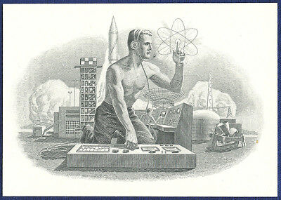 AMERICAN BANK NOTE Co. ENGRAVING: 031c NUCLEAR POWER