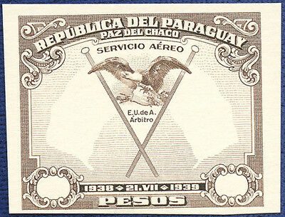 AMERICAN BANK NOTE Co. ENGRAVING: PARAGUAY COM AIR MAIL