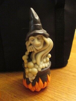 Vintage Gurley Witch Halloween Candle Cauldron Scary