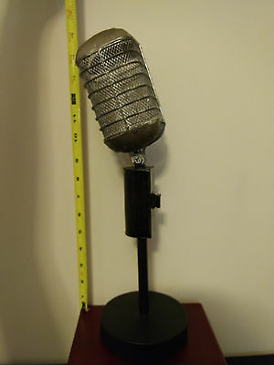 Microphone and Mic Stand Vintage Sinatra Elvis Record LP Style Mic Theater Prop