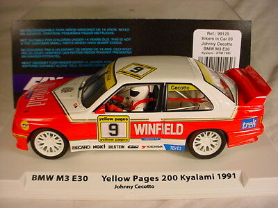 Fly BMW M3 E30 #9 'Winfield' Kyalami 1991 Cecotto 99125 MB 1/32 slot car