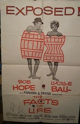 The Facts of Life 1961 UA Broad Sheet B Hope & L Ball