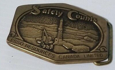 Esso Resources Canada 1981 Solid Brass Safety Buckle